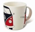 VW Bulli Kaffeetasse - rot/schwarz - Volkswagen