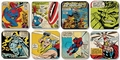 MARVEL COASTER COMIC SET - 8 UNTERSETZER