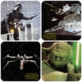 x STAR WARS COASTER SET 4 - 4 UNTERSETZER
