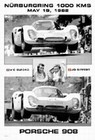 Porsche 908 Nürburgring 1000 KM 1968, Vic Elford, Jo Siffert