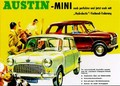 Austin-Mini Werbung. Poster