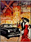 Ford Werbung 1954  - Kleinposter Reprint