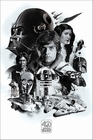 x STAR WARS 40TH ANNIVERSARY POSTER MONTAGE