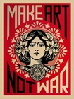 2 x SHEPARD FAIREY KUNSTDRUCK MAKE ART NOT WAR!