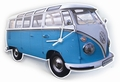 VW T1 Bulli WANDUHR CLASSIC BLAU