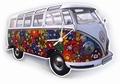 VW Bulli T1 WANDUHR FLOWER