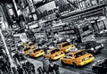 3 x FOTOTAPETE - NEW YORK - TAXIS - CABS QUEUE