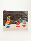 PRETTY BIRD ZIPPER TASCHE