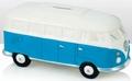 VW Campervan Spardose weiss/blau