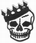 3 x VOODOO RHYTHM SKULL CROWN PATCH