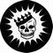 x SLIPMAT - VOODOO RHYTHM RECORD SLIPMAT SKULL EXPLOSION