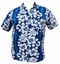 Hawaii Hemd Classic Flower - Hellblau