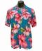 Original Hawaiihemd - Hibiscus Blossom - Teal - Paradise Found
