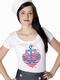 Glaube, Liebe, Hoffnung - Girl Shirt weiss