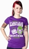 x MEXICAN WRESTLING GIRL SHIRT LILA