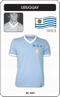 Uruguay 1970 Short Sleeve Retro Trikot