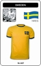 Schweden Retro Trikot Kurzarm