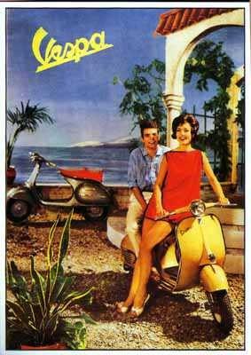 Vespa Kalendermotiv der 60er Jahre