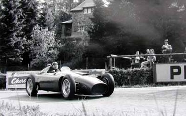 Juan Manuel Fangio, GP Belgien 1956. Lancia D50