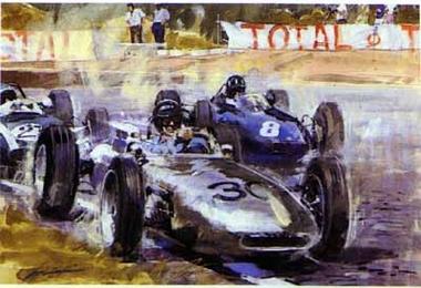Porsche Typ 804 F1großer Preis Von Frankreich 1962 Poster