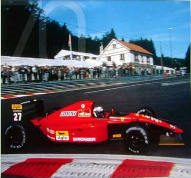 Prost On Ferrari Formula 1 70 Years Agip Poster 1996 Race