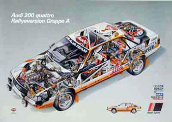 Audi Quattro 200. Poster