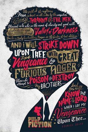 Pulp Fiction Poster Ezekiel 25:17