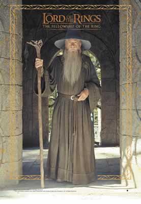 Herr der Ringe Poster Gandalf