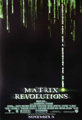 MATRIX - REVOLUTIONS - US Originalposter
