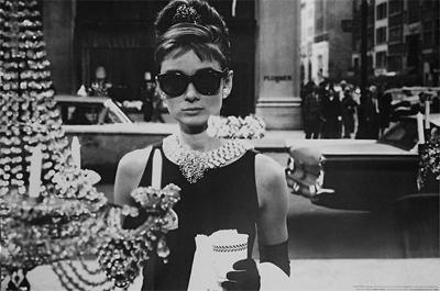 Audrey Hepburn Poster Shopping at Tiffany's