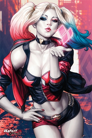 Batman Poster Harley Quinn Kiss