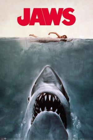 Der Weiße Hai Poster Jaws Key Art