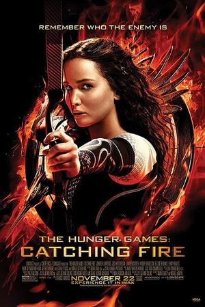 Die Tribute von Panem 2 Poster Catching Fire Katniss Bogen