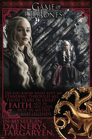 Game of Thrones Poster Faith in Myself