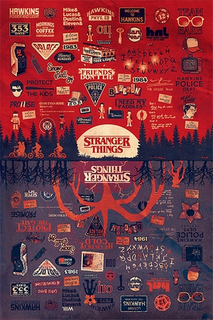 Stranger Things Poster The Upside Down