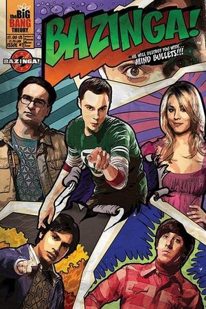 The Big Bang Theory Poster Bazinga! Comic