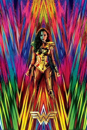 Wonder Woman 1984 Poster Neon Static
