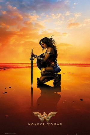 Wonder Woman Poster Sunset