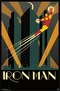 Iron Man Art Deco - Poster