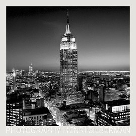 Henri Silberman - Empire State Building at Night Poster