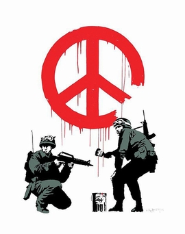 Banksy Kunstdruck Peace Soldiers