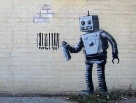Banksy Kunstdruck Roboter