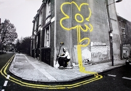 Banksy Poster Pollard Street Gelbe Blume