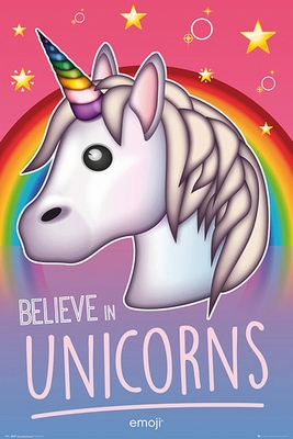 Emoji Poster Believe in Unicorns