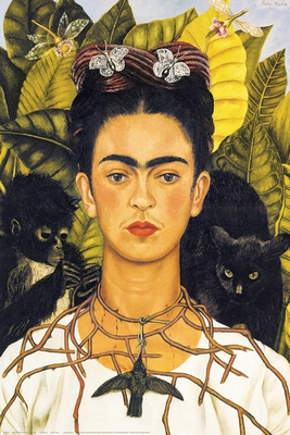Frida Kahlo Poster Portrait with Necklace