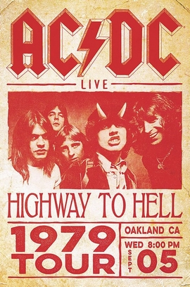 AC/DC Poster Live Highway To Hell Tour 1979