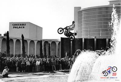 Evel Knievel Poster Caesars Palace Jump