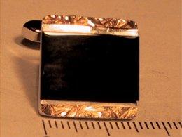 Silber goldplattiert m. Onix
