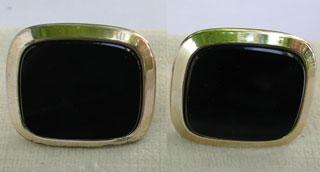 Silber massiv goldplattiert m. Onix