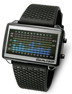 Tokyoflash Uhr - Equalizer High Frequency PU Black & Blue Lights
